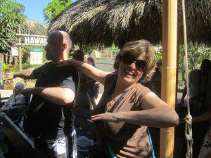 Sue & Kai do the hula