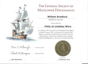 Mayflower Cert