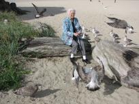 Theresa at the coast
